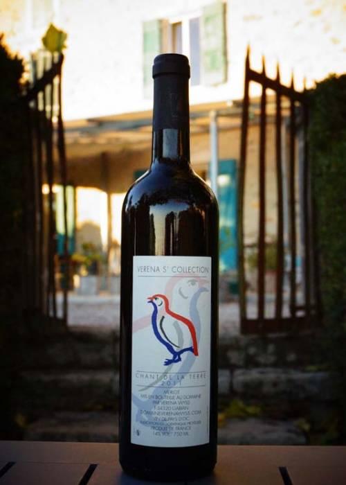 vin rouge languedoc igp chant de la terre
